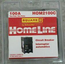 New Homeline Square D Hom2100c 2 Pole 100 Amp 120240v Circuit Breaker