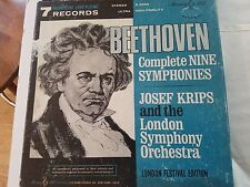BEETHOVEN complete nine symphonies Josef Krips L.S.O. S 2694 Murray hill records