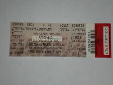Radiohead Concert Ticket Stub-2008-In Rainbows Tour-Verizon Wireless-Nc