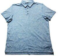 Nike Golf Tour Premium Mens Blue Striped Short Sleeve Polo Shirt Size 2XL