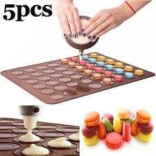 5pcs 48cavity Silicone Macaron Baking Sheet Mat DIY Cake Pastry Chocolate Mold