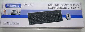 Tastatur Maus Set Kabellos schnurlos Wireless Keyboard Drahtlose Funkmaus