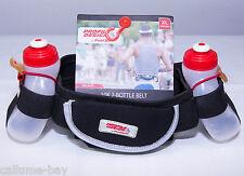 "FuelBelt 10K 2 Bottle Hydration Belt Black Size XL 36-38"" Tri Belt Fuel Belt"