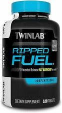 Twinlab Ripped Fuel Extended Release Fat Burner Weight Loss Energy - 120 Tablets