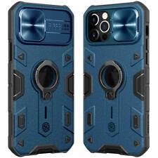 For iPhone 12 11 Pro Max NILLKIN Armor Camera Lens Slide Case Ring Holder Cover