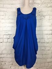 Womens KALIKO Blue Sleeveless Beaded Neckline Formal Party Dress Size 12 RRP £95