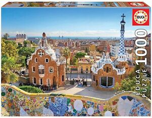 EDU17966 - Puzzle of The View From The Park Güell To Barcelona – 1000 Parts