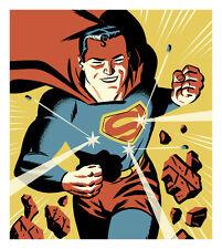 Michael Cho SIGNED DC Comic JLA Fine Art Print ~ Superman Man of Steel