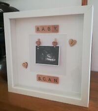 Baby Scan Picture box frame Scrabble 3D beautiful keepsake
