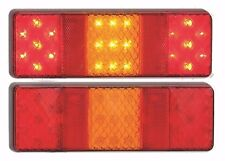 TRAILER 2 X STOP/TAIL/INDICATOR/ REFLEX REFLECTOR LAMPS MULTI VOLT LED AUTOLAMPS