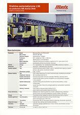 Mercedes Actros Metz 2014 catalogue brochure Pompiers Fire Truck Feuerwehr