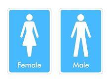 Inodoro signos Sticker Decal Gráfico Macho Mujer Etiquetas De Vinilo V2