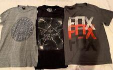 3 Mens Sz S T-Shirts Obey, LNG, Fox, Cotton Excellent Condition