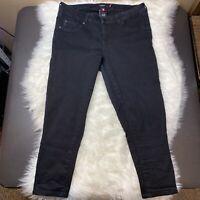 "TORRID Women's Crop Jegging Size 12 Black Jeans Stretchy Denim Inseam 23"""