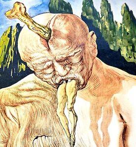 Salvadore Dali Art Book Plate - The Logician Devil - Surrealism