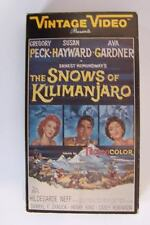The Snows of Kilimanjaro VHS Video Tape Gregory Peck Susan Hayward Vintage Class