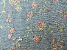 excellent/vtg/shahmina/baby cashmere rectangular, embroidered shawl,stole,signed