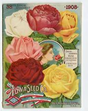 1908 Antique IOWA SEED CO. CATALOG, Des Moines, Gardening, Farming, Flowers