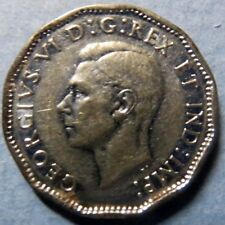 *1945 Vintage CANADA  5 CENTS WAR COIN, Very Fine Circulated KING GEORGE V COIN