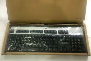 New HP 434821 keyboard USB QWERTY English And Hebrew (israel) Black,Silver