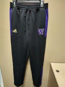 Adidas Washington Huskies Warm Up Pants Mens Medium Black GL5545