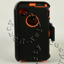 iPhone 4 / iPhone 4s Hard Shell Case w/Holster Belt Clip fit Otterbox Defender