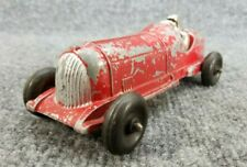 """Vintage HUBLEY KIDDY TOY RACE CAR DIECAST RED METAL 7"""" LONG USA"""