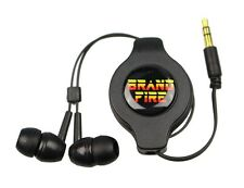 Retractable Earphones Headphones - PSP iPod iPhone iPad 3DS DSi Vita Kindle BLK