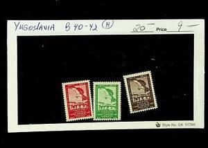 YUGOSLAVIA 1934 BIRDS EAGLE 3v MH STAMPS #B40-42 CV $20