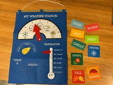 Target Bullseye PlayGround Learning School Supply Felt Weather Chart Morning