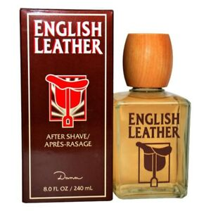 ENGLISH LEATHER MEN by DANA HUGE 8.0/8 oz (236 ml) After Shave Lotion NEW SEALED
