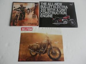 3 x Royal Enfield Brochures.