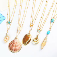 Shell Necklace Cowrie Beach Sea Pendant Choker Gold Chain Women Fashion Jewelry