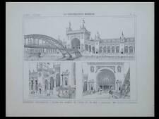 EXPOSITION 1900, PALAIS DES ARMEES - PLANCHE ARCHITECTURE- AUBURTIN, UMBDENSTOCK