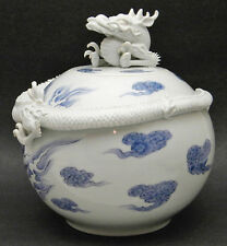 Large Magnificent Japanese Meiji Hirado Jar w/ Dragon