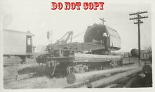 6G725 RP 1940s? P&W RAILROAD CRANE #407 PHILLY ? WORCESTER ? PORTLAND ?