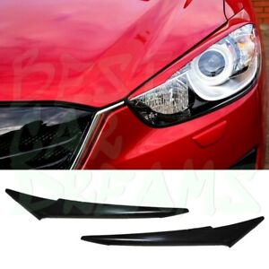 HEADLIGHT EYEBROWS COVERS TRIM FOR MAZDA CX 5 2011-2015