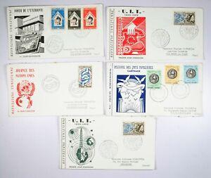 TUNISIA 5 Buste Primo Giorno Enveloppes Premier Jour Tunisie - 1965