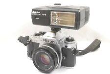 Nikon FG + 50mm f1.8 Series E lens, SB-15 Speedlight, VGC, Tested, New Seals