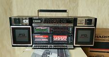 BOOMBOX SHARP WF940H (BK) Vintage Rare Own Box Operation Manual