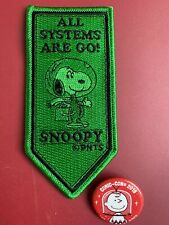 PEANUTS SNOOPY Astronaut Patch & Button Pin SDCC 2019 San Diego Comic Con Excl