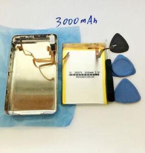 3000mA Battery+Back Cover Upgrade kits iPod 30GB Classic 80GB 120GB 160GB Thick