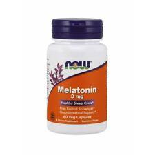 MELATONIN 3 mg (60 vege caps) Healthy Sleep Cycle / NOW FOODS