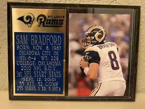 Sam Bradford 6x8 Rams Plaque