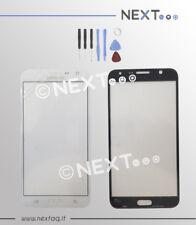 Vetro Vetrino per schermo touch screen Samsung Galaxy J7 J700 2015 bianco + kit
