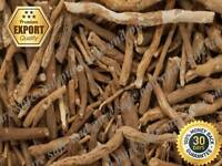 Whole Organic Indian Ginseng Ashwagandha Roots Withania Somnifera Export Quality