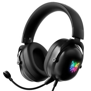 Onikuma X11 RGB Gaming Headset Noise Canceling Gaming Headphones with Mic