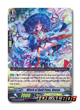 Cardfight Vanguard  x 4 Witch of Quill Pen, Oneon - G-FC02/030EN - RR Pack Fresh
