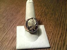 S Ray Oval Cast Eagle Ring Goldfilled Over Sterling Silver