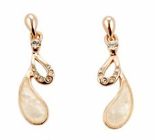 Con Mi Go London E100070 ladies' mother of pearl and 'gold' drop earrings